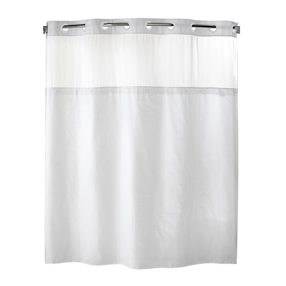 Hookless fabric shower curtain with built in liner taupe diamond pique - Hookless Fabric Shower Curtain With Built In Liner Taupe Diamond Pique 21
