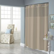 Dobby Pique Mystery Hookless Fabric Shower Curtain