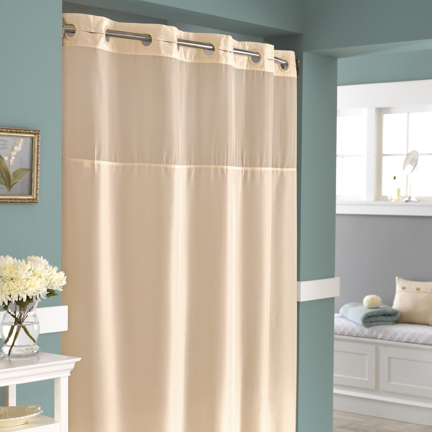 Hookless fabric shower curtain with built in liner taupe diamond pique - Hookless Fabric Shower Curtain Part 36 Shower Curtains Fabric Hookless Mystery Hookless Fabric Shower