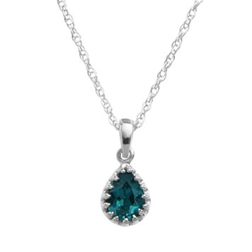 Tiara Sterling Silver London Blue Topaz Teardrop Pendant