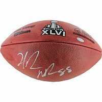 Steiner Sports Hakeem Nicks Signed Super Bowl XLVI Football