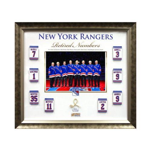 "Steiner Sports New York Rangers Retired Number 20"" x 24"" Collage"