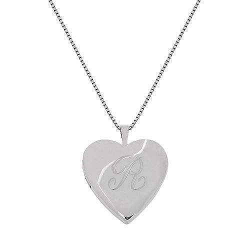 Sterling Silver Initial Heart Locket