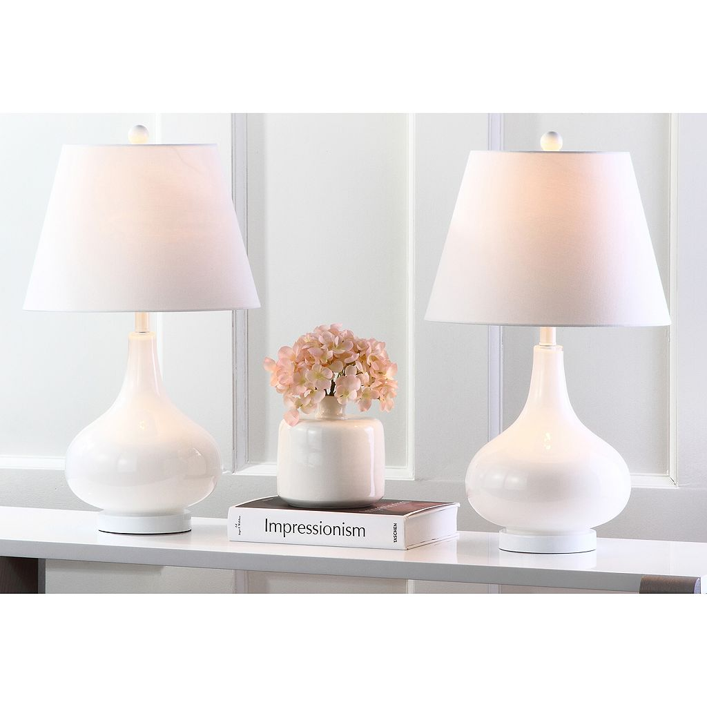 Safavieh Amy Gourd 2-pc. Glass Table Lamp Set