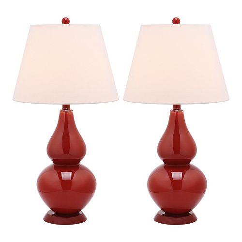 Safavieh Cybil Double Gourd 2-pc. Table Lamp Set