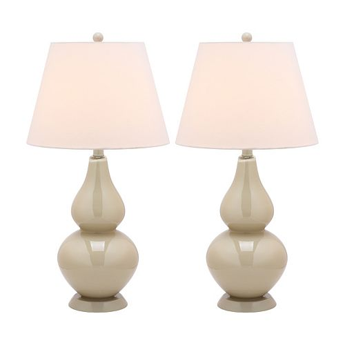 Safavieh Cybil Double Gourd 2-pc. Table Lamp Set
