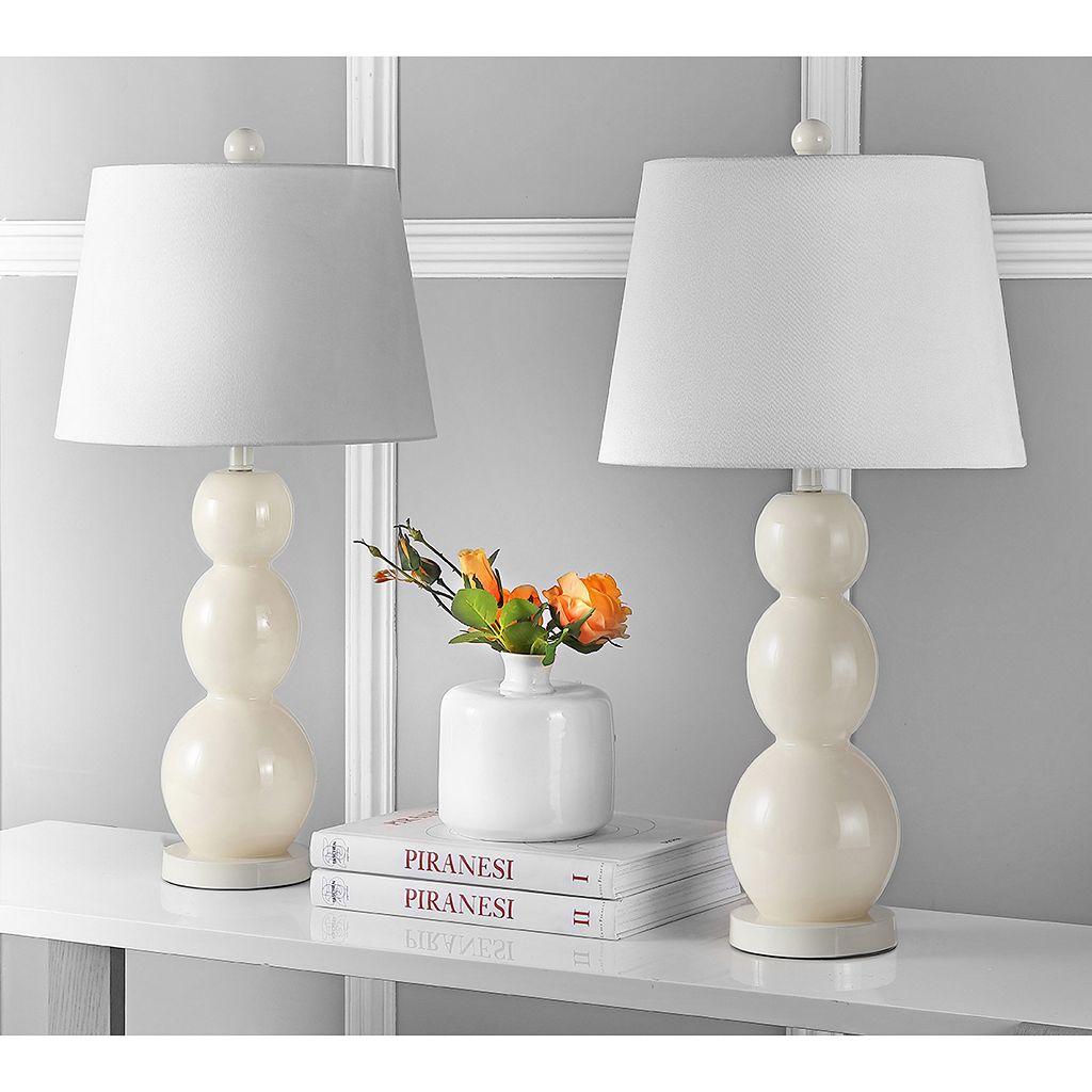 Safavieh Jayne Three Sphere 2-pc. Glass Table Lamp Set