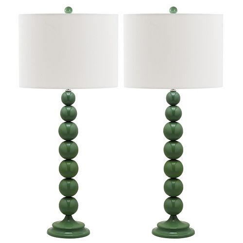 Safavieh 2-pc. Jenna Stacked Ball Table Lamp Set