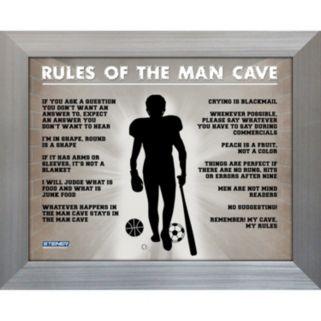 Steiner Sports Man Cave Rules Original 11'' x 14'' Framed Photograph