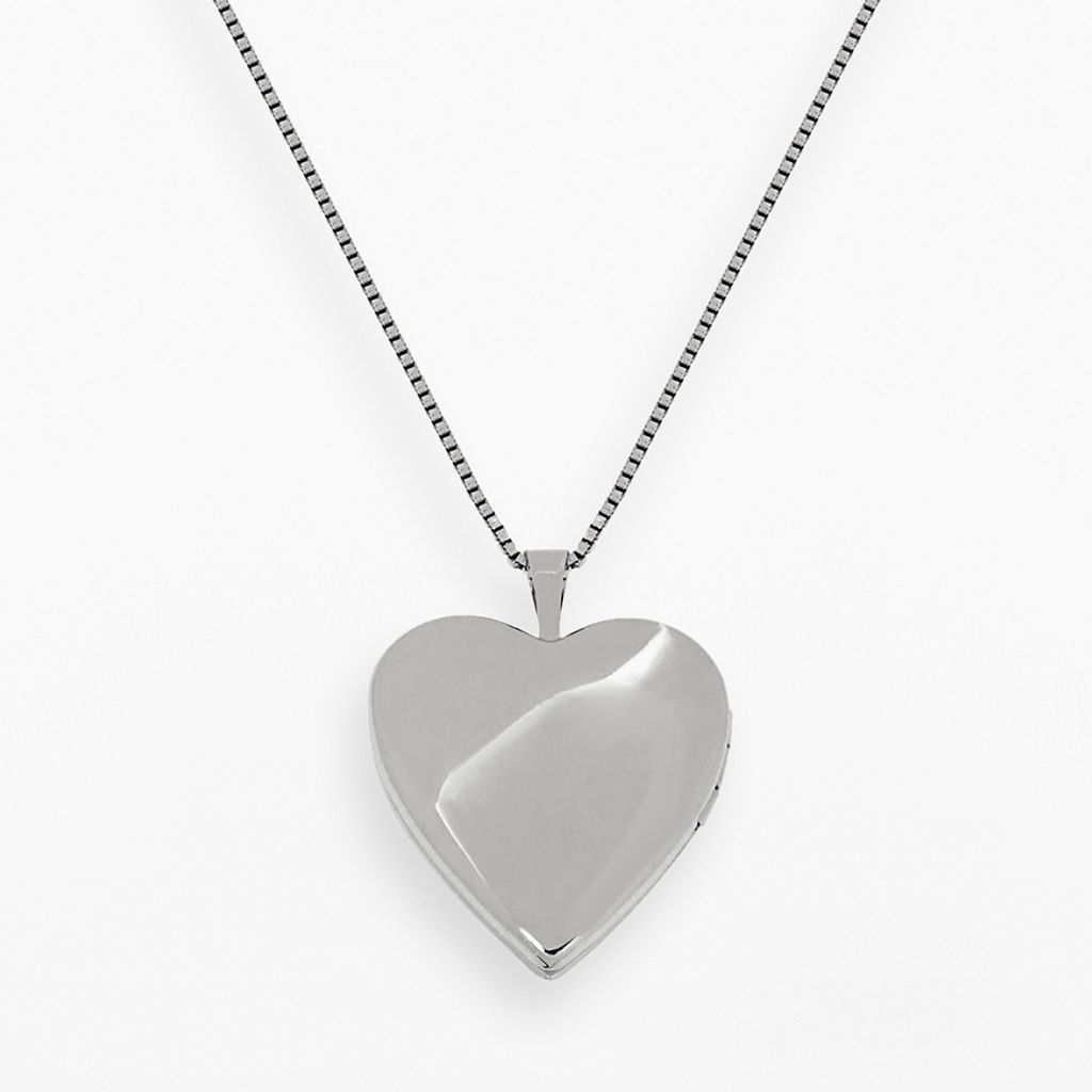 14k Rose Gold Over Silver and Sterling Silver Heart Locket