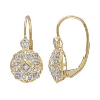 Miadora 14k Gold 1/8-ct. T.W. Round-Cut Diamond Drop Earrings