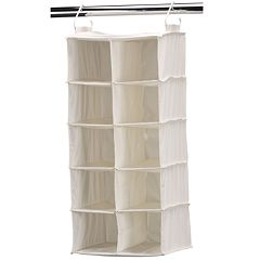 Household Essentials 10-Pocket Double Hanging Shoe Organizer Bag