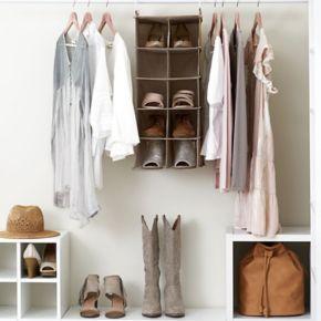 Household Essentials 10-Pocket Double Hanging Shoe Organizer Bag