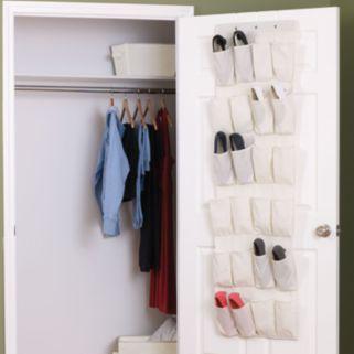 Household Essentials 24-Pocket Over-The-Door Shoe Organizer
