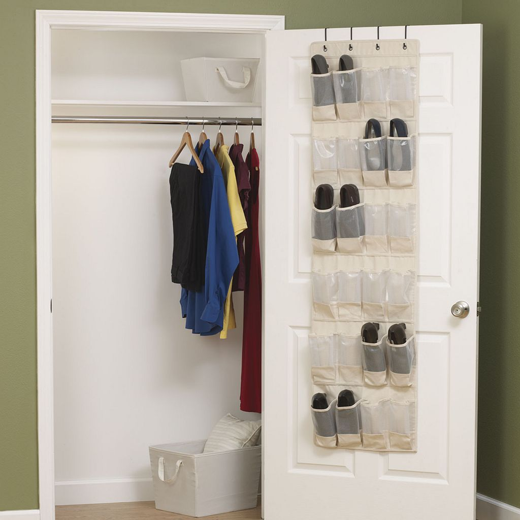 Household Essentials Cedarline 24-Pocket Over-The-Door Shoe Organizer