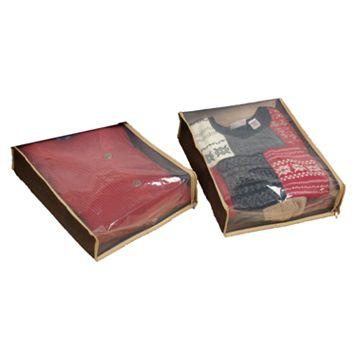 Household Essentials Tan 2-pk. Sweater Bags