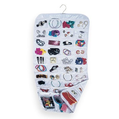 Household Essentials 80-Pocket Hanging Jewelry Bag