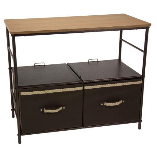 Household Essentials 2-Shelf Storage Tower