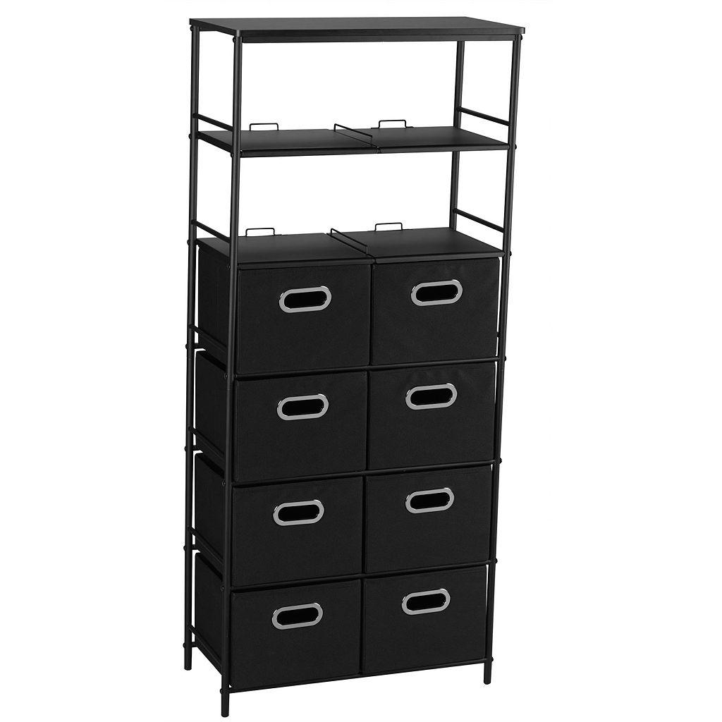 Household Essentials 6-Shelf Storage Tower