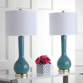 Safavieh 2-pc. Mae Long Neck Table Lamp Set