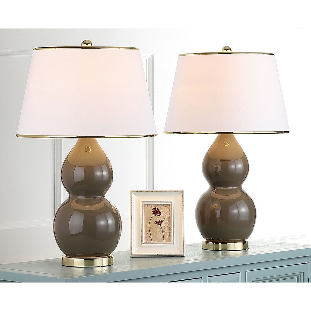 Safavieh 2-pc. Jill Double-Gourd Table Lamp Set