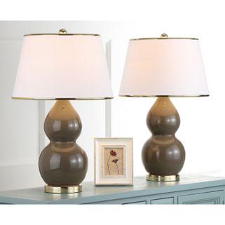 Safavieh 2-pc. Jill Double-Gourd Table Lamp Set