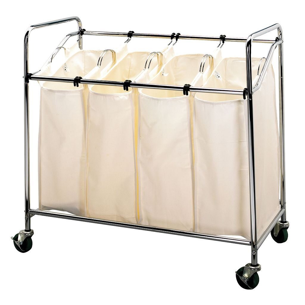 Household Essentials Rolling Quad Laundry Sorter