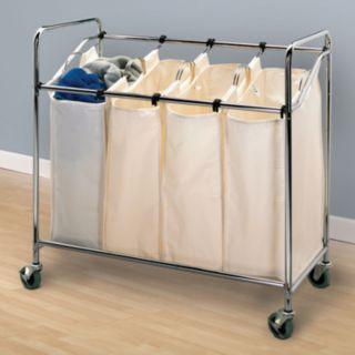 Household Essentials Rolling Quad Laundry Sorter