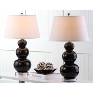 Safavieh 2-pc. Pamela Triple-Gourd Table Lamp Set