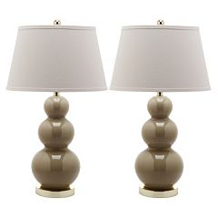 Safavieh 2-pc. Pamela Triple-Gourd Table Lamp Set