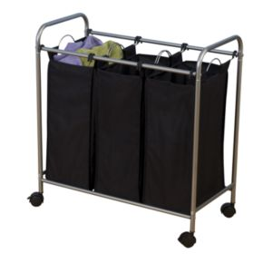 Household Essentials Rolling 3-Bag Laundry Sorter