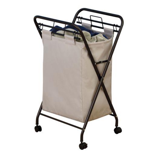 Household Essentials Rolling Laundry Hamper