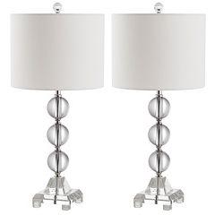 Safavieh 2 pc Fiona Crystal Table Lamp Set