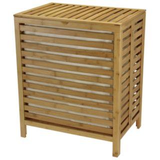 Household Essentials Bamboo Open-Slat Laundry Hamper