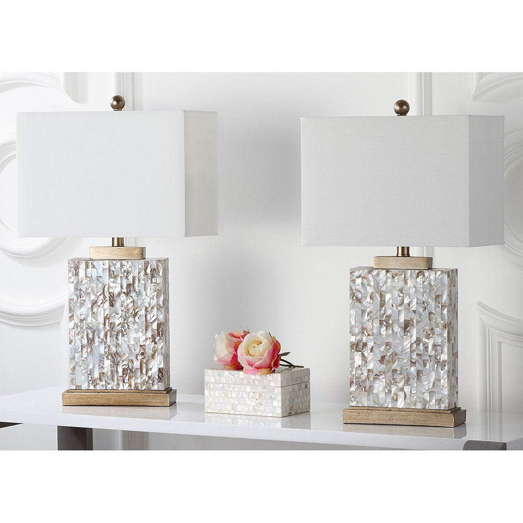 Safavieh 2-pc. Tory Shell Table Lamp Set