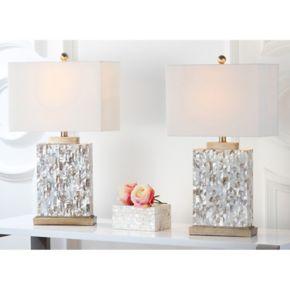 Safavieh 2-pc. Tory Shell Table Lamp Set