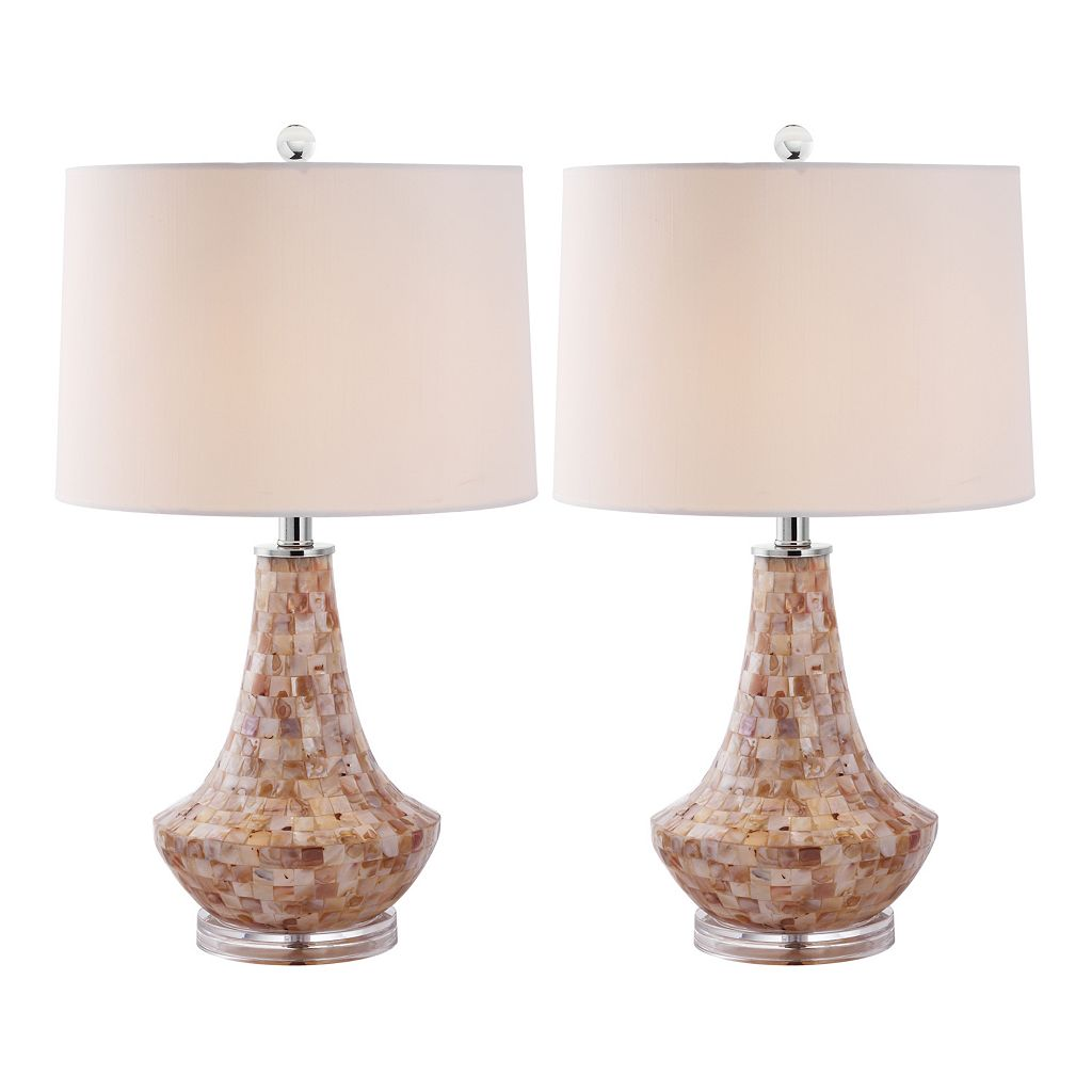 Safavieh 2-pc. Kobe Shell Table Lamp Set
