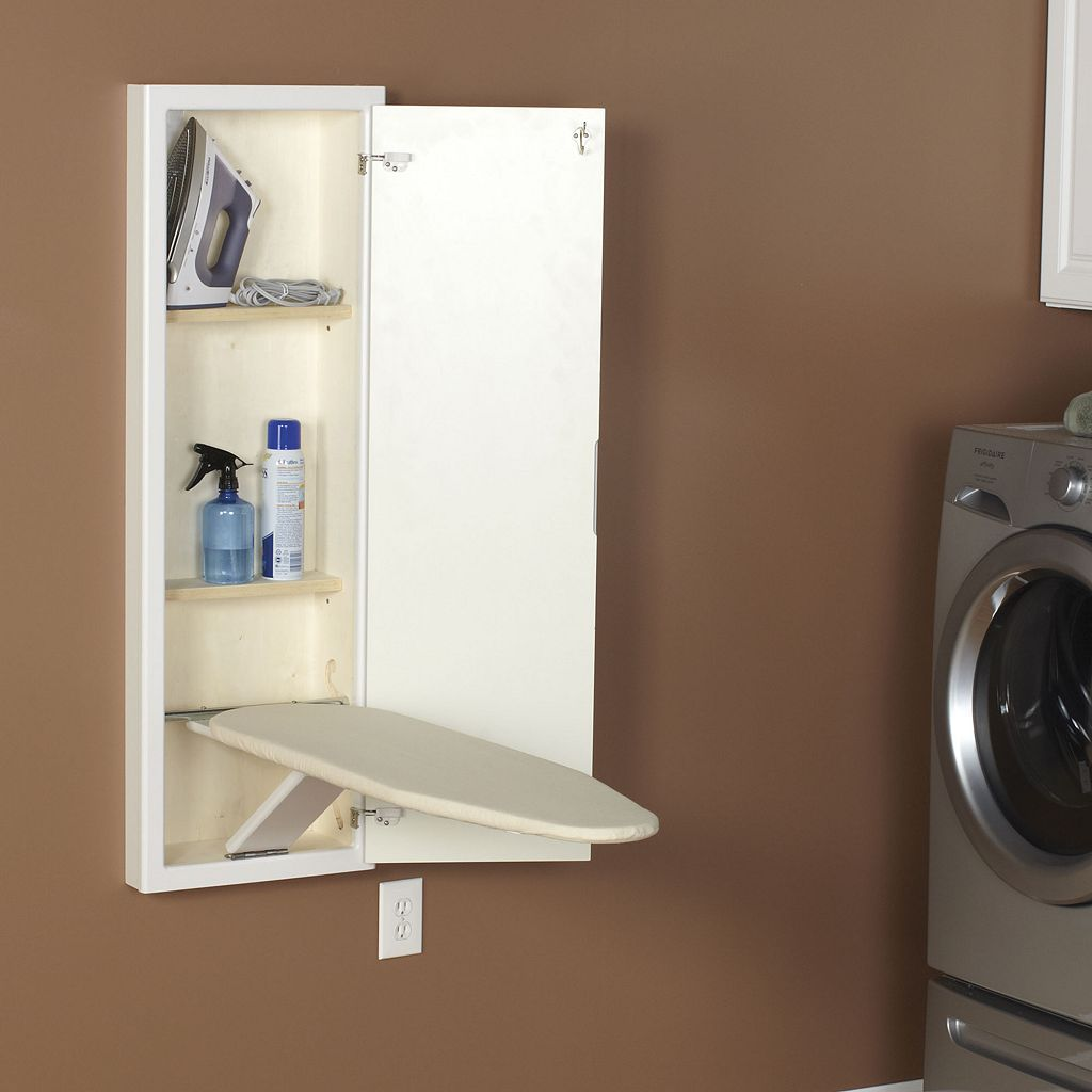 StowAway Wall-Mounted Ironing Board and Cabinet