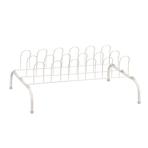 Household Essentials 9-Pair Wire Shoe Rack