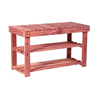 Household Essentials Cedar Shoe Bench