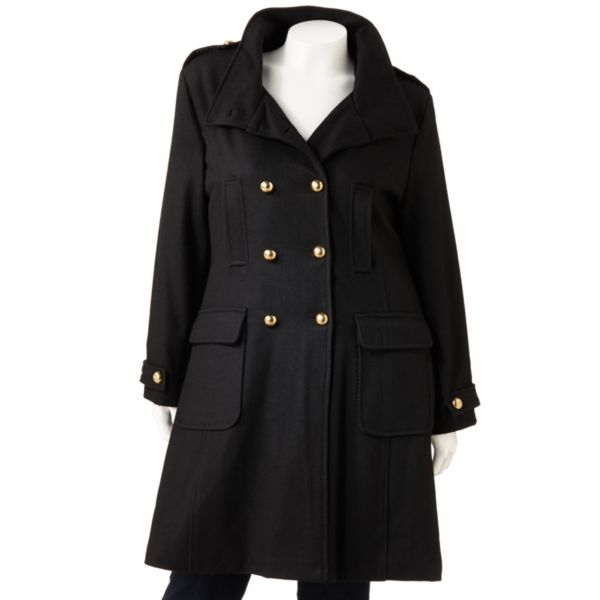 Excelled WoolBlend Coat Women,s Plus