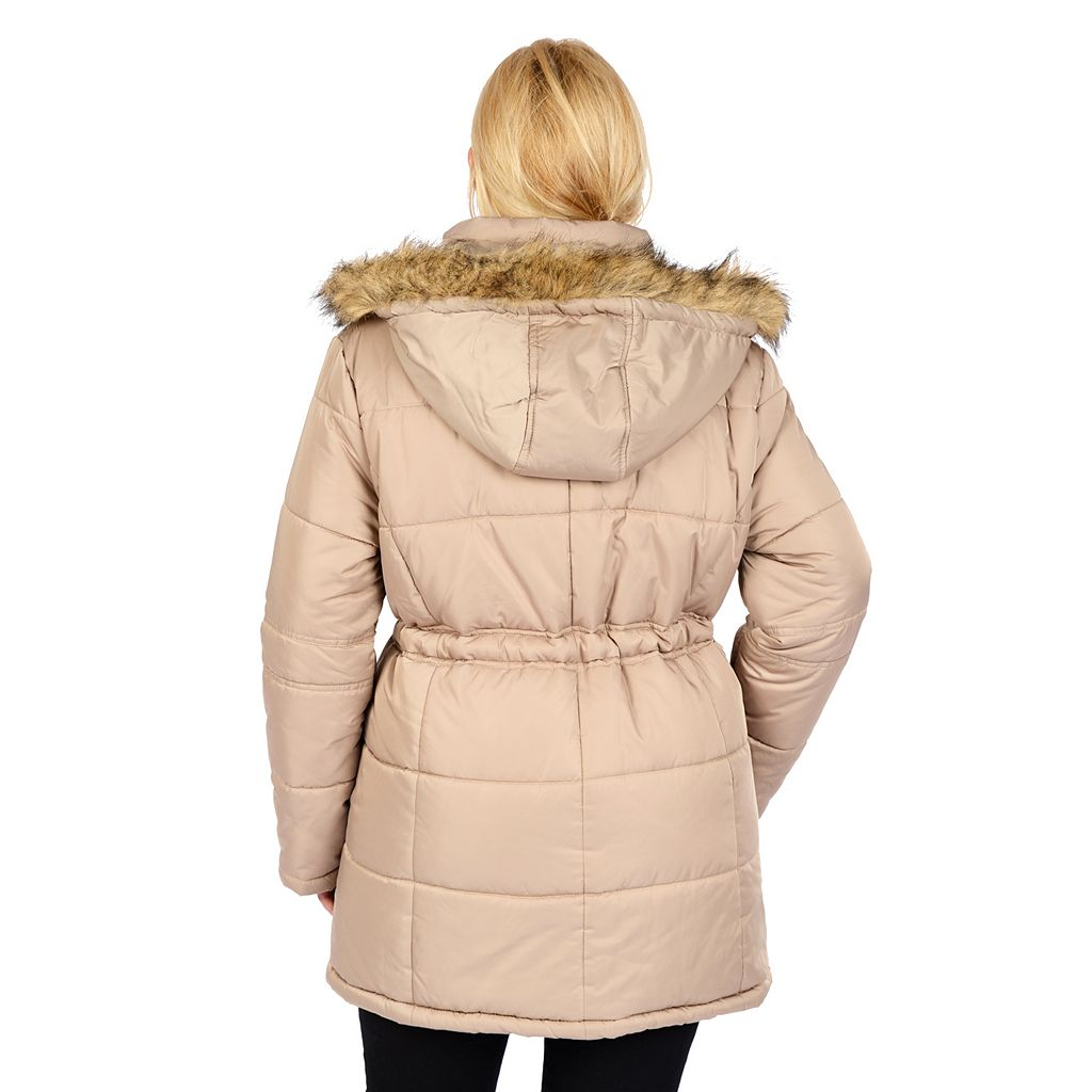 Plus Size Excelled Quilted Anorak Jacket