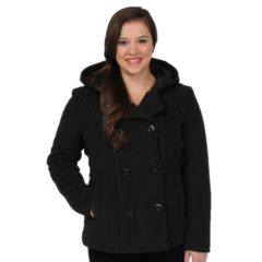 Cotton Pea Coat Womens