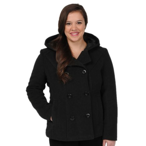 Excelled Hooded Peacoat