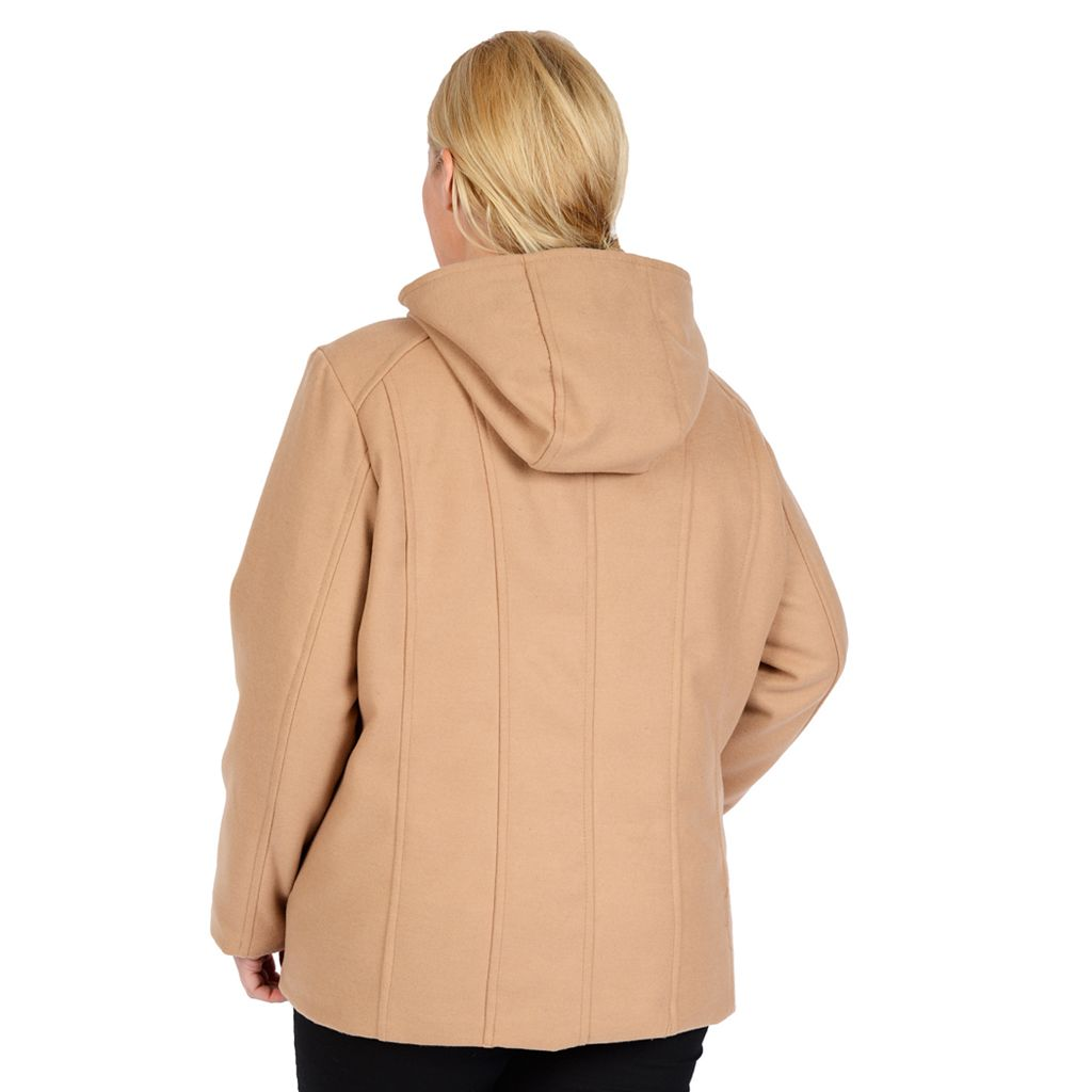 Plus Size Excelled Hooded Peacoat