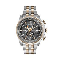 Citizen Eco-Drive Men's World Time A-T Two Tone Stainless Steel Chronograph Watch - AT9016-56H