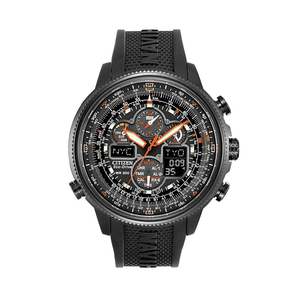 8f97f257ec6 Citizen Men s Eco-Drive Navihawk A-T Analog   Digital Atomic Chronograph  Watch - JY8035-04E