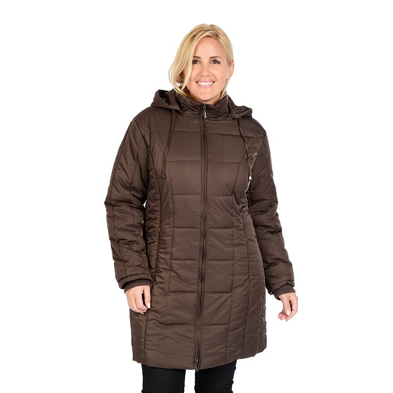 Excelled Hooded Quilted Jacket - Women's Plus