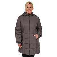 Plus Size Excelled Hooded Quilted Jacket