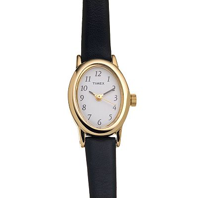 Timex Cavatina Gold Tone Leather Watch - T2M5669J - Women